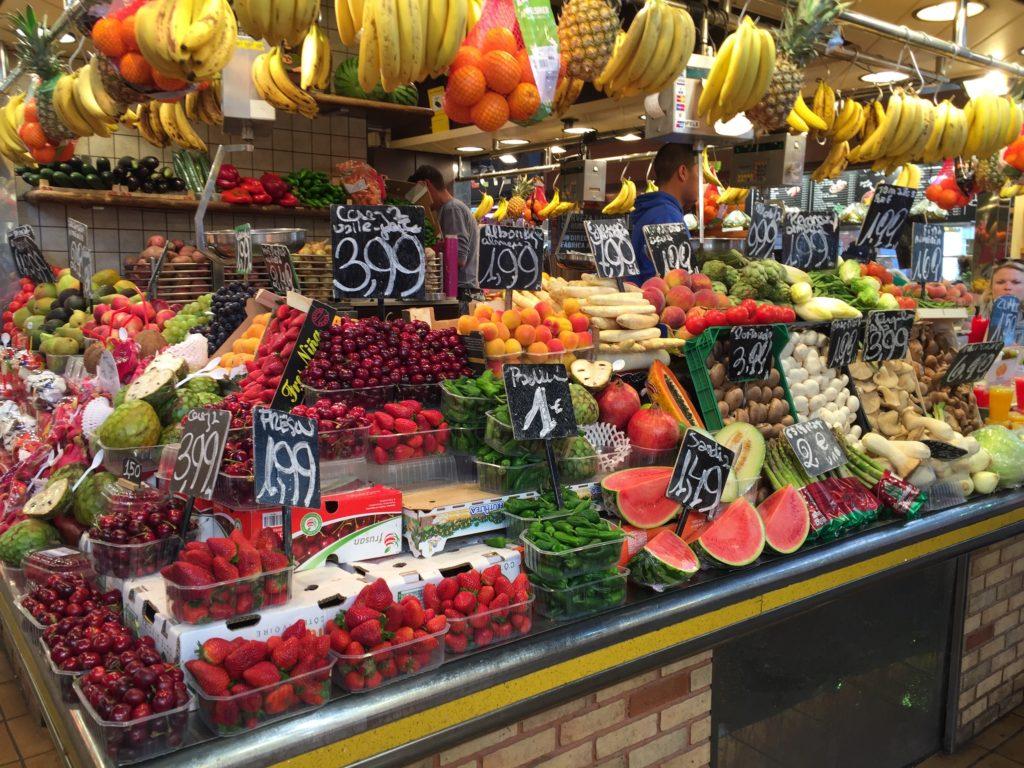 Frutas-Vegetales-Boqueria