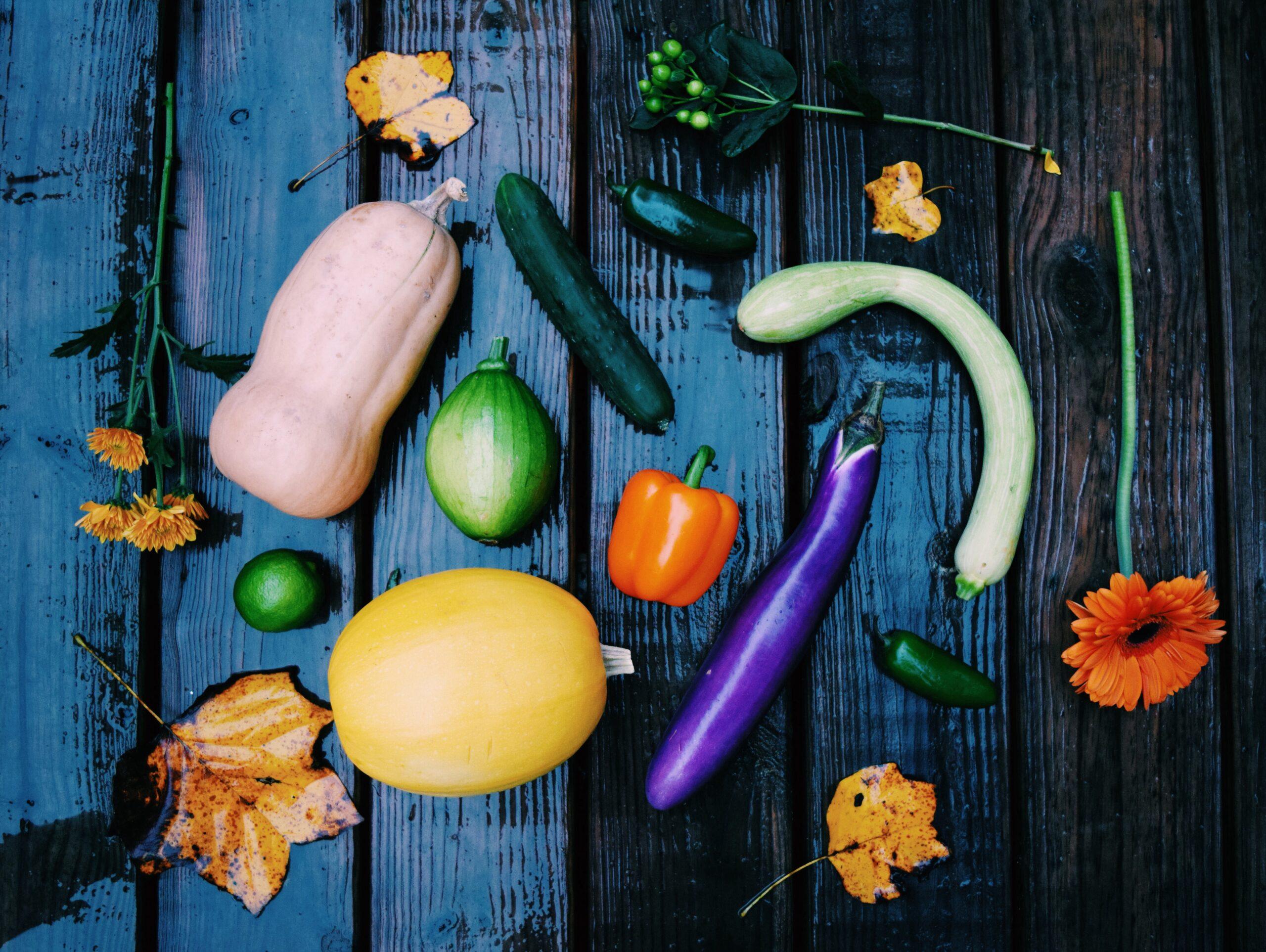 Ser vegetariano o vegano es un estilo de vida. Foto: verduras de otoño.